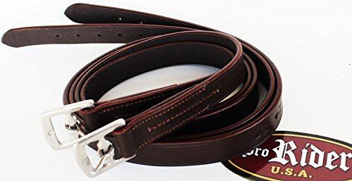 English Equestrian Horse Tack Adult Leather Stirrup 54″ Red 804ST03BR