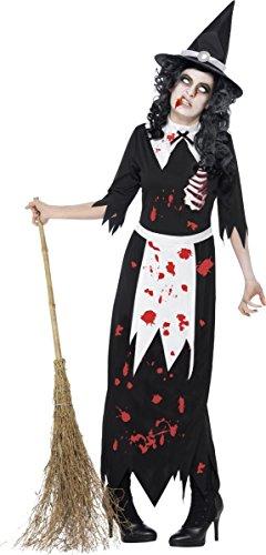 Ladies Black Zombie Authentic Salem Witch (Fancy Dress Costume)