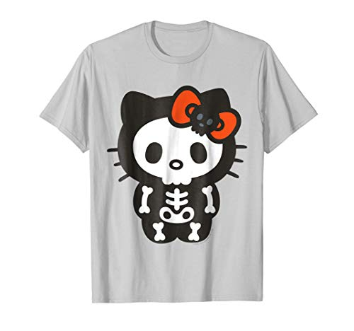 Hello Kitty Skeleton Halloween Tee Shirt