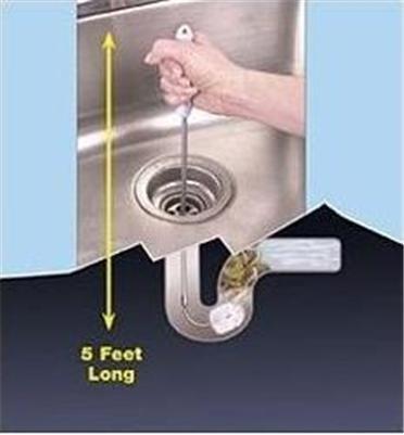 5\' Long Flexible Drain Cleaner Unclog Sink Kitchen Bath ...
