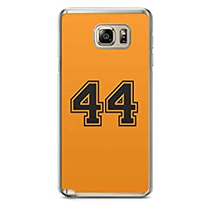 44 Samsung Note 5 Transparent Edge Case - Numbers Collection