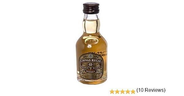 Botellita Miniatura Chivas Regal Scotch Whisky: Amazon.es: Alimentación y bebidas