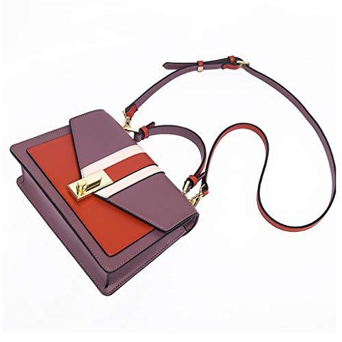 Color Mujer Caja Cuadrado Nueva Handbag Personalidad Bolso Hit Simple Paquete Mensajero b Hombro D La De Moda Pequeño Cerradura qxwxZpg6