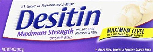 Desitin Maximum Strength Original Diaper Rash Paste 4 oz tube (Pack of 6)