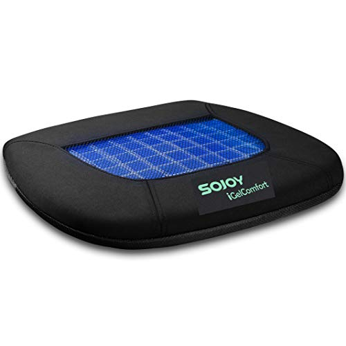 Sojoy iGelComfort Coccyx Orthopedic Breathable Gel Seat Cushion (Black)