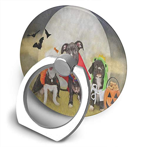 Popular Customized Finger Ring Stand Hipster Puppy Dog Dressed in Halloween Costumes Universal Smart Phone Ring for iPhone, Samsung Galaxy 360°Rotation Cell Phone Ring Stand Holder Grip]()