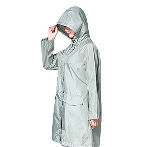 Cappuccio Con Traspirante Pioggia Outdoor Impermeabile Juleya Donna Lunga Senape Rainwear Poncho Verde Da Giacca EtZHRw8q