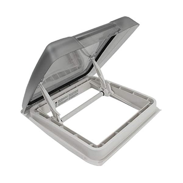 41IwRO%2BYVEL MPK VisionStar M pro getönte Klarglas Dachluke Dachfenster Dachhaube 40 x 40 cm in signalweiß