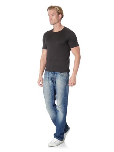 Schiesser Revival Shirt Heinrich ohne Knopfleiste (8, blauschwarz)