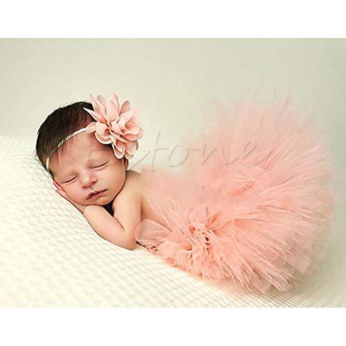 LLLucky Newborn Baby Girl Ruffle Tutu Gonna Fiore Fascia Fotografia Prop Custodia Outfit 1