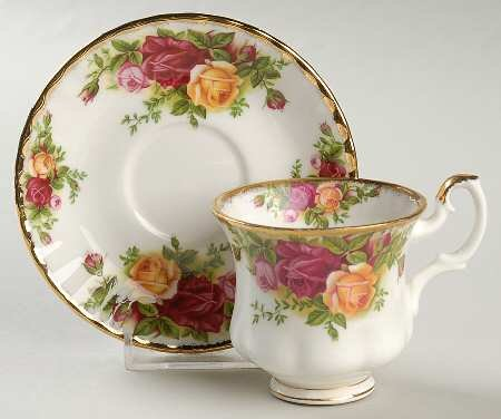 Royal Albert Old Country Roses Footed Demitasse Cup & Saucer Set, Fine China Dinnerware