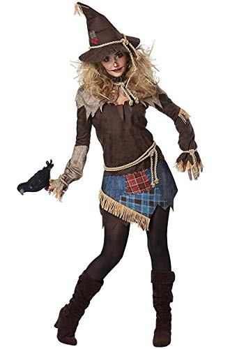 California Costumes Women's Creepy Scarecrow Adult Woman Costume, Brown Medium -