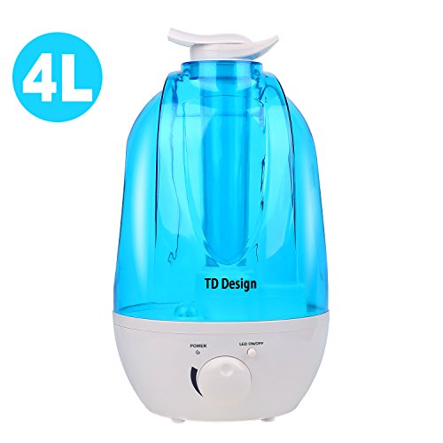 TD Design Ultrasonic Cool Mist Humidifier Whisper Quiet for Whole House, Waterless Auto Shut-off, 33 Hours Mist, Two easy 360 Degree Mist Output by TD Design