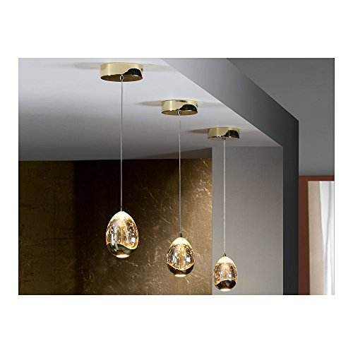 Schuller Spain 784347I4L Modern Gold Egg Ceiling Pendant 1 Light Dining Room, Living Room LED | ideas4lighting by Schuller