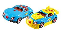 Liberty Imports World Racing Car Take-A-Part Toy for Kids with 30 Take Apart Pieces, Tool Drill, Lights and Sounds