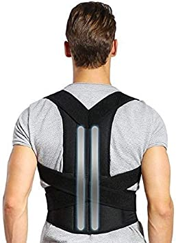 Doact Corrector de Postura - Ajustable Soporte de la espalda y Alivio del Dolor de Espalda y Mejorar la Postura, Adecuado Mujer y Hombre XXL(Cintura 43
