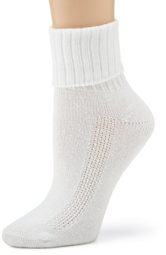 HUE Women's Air Cushion Turncuff Sport Socks, 3 Pair (Turncuff Socks)