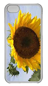 Customized iphone 5C PC Transparent Case - Sunflower 7 Personalized Cover