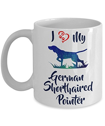 I Love My German Shorthaired Pointer - White Ceramic Coffee Mug