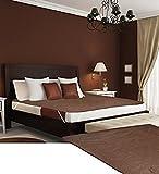 Desirica Branded Waterproof Double Bed Mattress Protector,Brown
