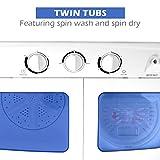Giantex Portable Mini Compact Twin Tub 11lb Washing Machine Washer Spin Dryer