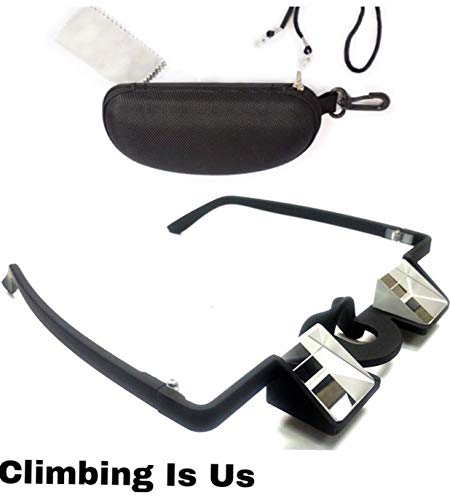 Rock Climbing Belay Glasses Lightweight Climbing Pro Belaying Glasses with Strap & Case for Rock Climbing by ClimbingIsUs