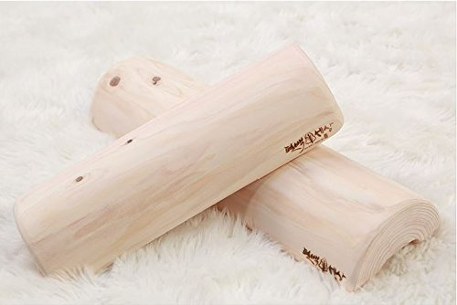 Therapeutic Wooden Pillow made of Hinoki Cypress for Stiff Neck, Shoulder Pain, Spinal Health, and Relaxation (16inch x 2.25inch) by Hinoki Cypress World