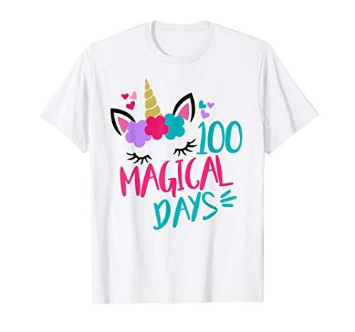 Unicorn 100 Days of School 100th Girls Magical Shirt for $<!--$17.95-->
