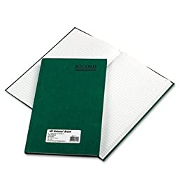 National Brand 56111 - Emerald Series Account Book, Green Cover, 150 Pages, 12 1/4 x 7 1/4-RED56111