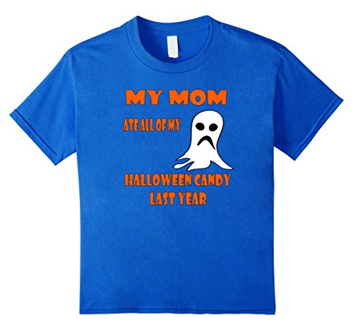 Kids HALLOWEEN MOM ATE MY CANDY 8 Royal Blue