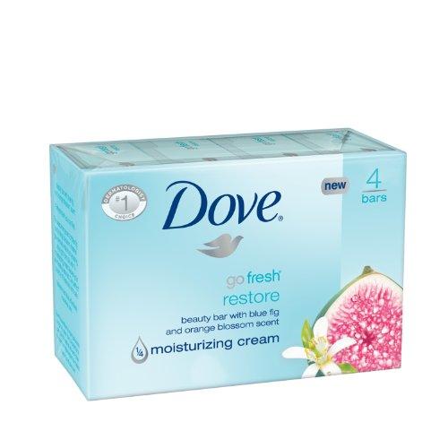 Dove go fresh Beauty Bar, Restore 4 oz, 4 Bar