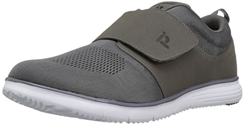 Propet Men's TravelFit Strap Walking Shoe, Grey, 9 3E US by Propét