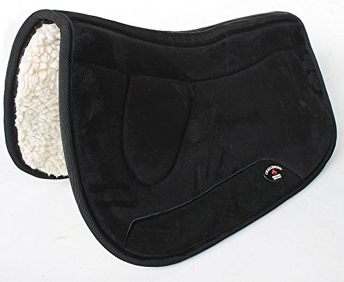 CHALLENGER Equine Western Barrel Horse Saddle PAD 29X32 Double Back Fleece Lined Black 3990 Double Fleece Saddle Pads