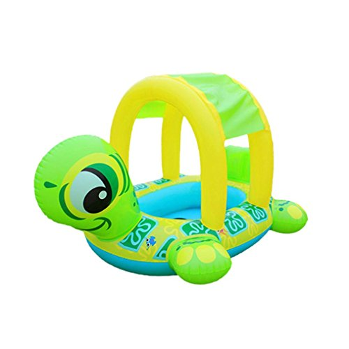 - Gbell Sunshade Baby Infant Float Seat Car- Pool Inflatable Swim Ring Flamingo Boat For Toddlers Newborn Baby Boys Girls (Yellow)