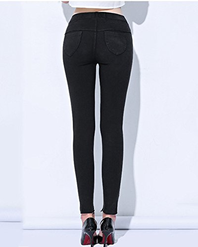 Fitness Deportivos Push Rotos Yoga Negro Mujer Pantalones Fit Mujer Mallas Slim Leggings Pantalones Vaqueros Pantalones Up wxPqTA8O
