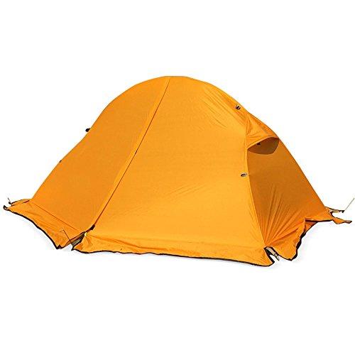 賃金薄い不良品QFFL zhangpeng テントダブルキャンプレジャーテント屋外キャンプテント3色オプション トンネルテント (色 : 青)