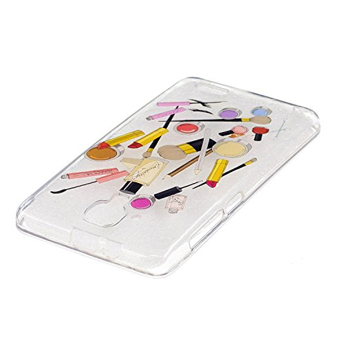 Lenovo A536 Hülle,MAGQI Transparent Ultra Dünn Gel TPU Bumper Tasche mit Bunter Cartoon Design [Kratzfeste,Scratch-Resistant] [Crystal Clear] Weiche Silikon Gummi Schutzhülle [Frei Stylus Pen] 360 edg Bilden