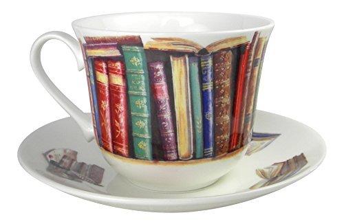 Roy Kirkham Creative Writing Book Lovers Breakfast Tea cup and Saucer Set Fine Bone (Fine Bone China Tea Set)