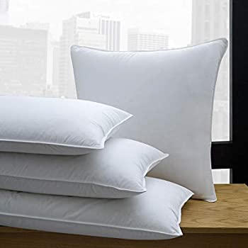 Image of Home and Kitchen 1221 Bedding 650 Fill Power White Down Pillow (Set of 2) King
