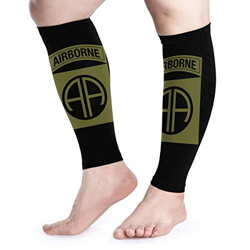 Calf Compression Sleeves Army 82nd Airborne Division Leg Support Socks for Women Men 1 Pair