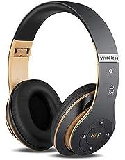 6S Kabelloser Kopfhörer HiFi-Stereo Zusammenklappbarer Kabelloser Stereo-Kopfhörer, Eingebautes Mikrofon Micro SD/TF FM (für iPhone/Samsung/iPad/PC)
