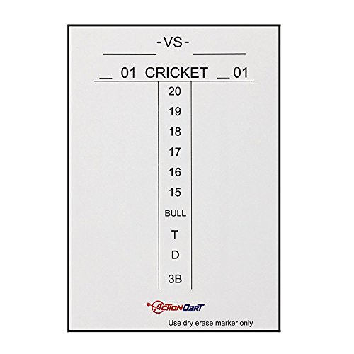 Piero Lorenzo Magnetic Dry Erase Dart Scoreboard - Cricket and 01 Dart Games - 17' x 11' | 14' x 10'...