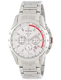 Bulova Men's Marine Star Chronograph Watch White 96B013