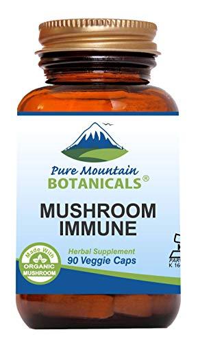 Maitake Super Turkey - Mushroom Immune - 90 Kosher Capsules with 14 Powerful Mycelium Including Certified Organic Maitake - Reishi - Turkey Tail - Chaga - Cordyceps - Shiitake - Lions Mane