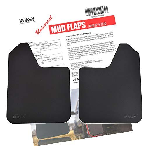 (XUKEY Universal Mudflaps For Car Pickup SUV Van Truck Mud Flaps Splash Guards Mudguards Dirty Traps 2pcs - Set)