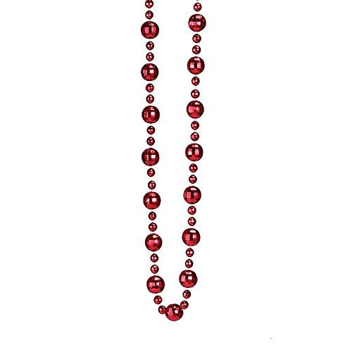 Kurt Adler Shiny Red Mirror Ball Garland