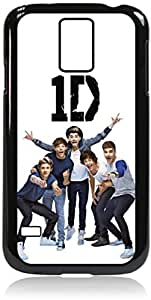 One direction - Funny Faces - Hard Black Plastic Snap - On Case-Galaxy s5 i9600 - Great Quality!