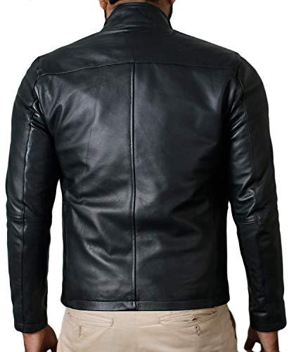 Laverapelle Men's Genuine Lambskin Leather Jacket (Black, Classic Jacket) - 1501135 |
