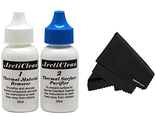 (ArctiClean 60ML Kit (30ml ArctiClean1+30ml ArctiClean2) & MicroFiber (7