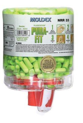 Moldex 6645 SparkPlugs PlugStation Earplug Dispenser, Cordless, 33NRR, Asst, 500 Pair